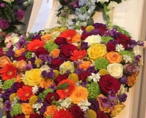 Rouwbloemen Hart